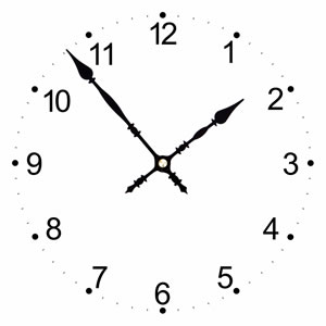 Clock dial can be added to images before printing