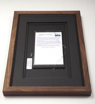 Back of hardwood frame