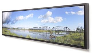 Panorama in a matte black metal frame