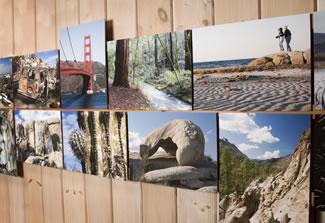Picture wall with Flat mount on fine art paper, matte coating