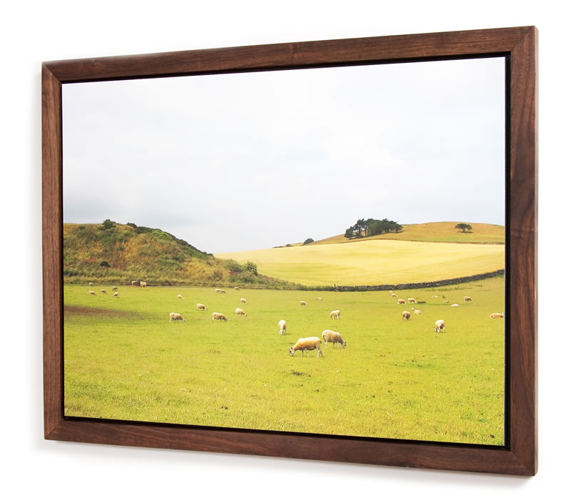 black walnut solid hardwood hand crafted frame