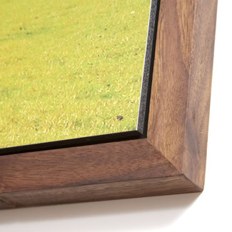 Black walnut corner detail